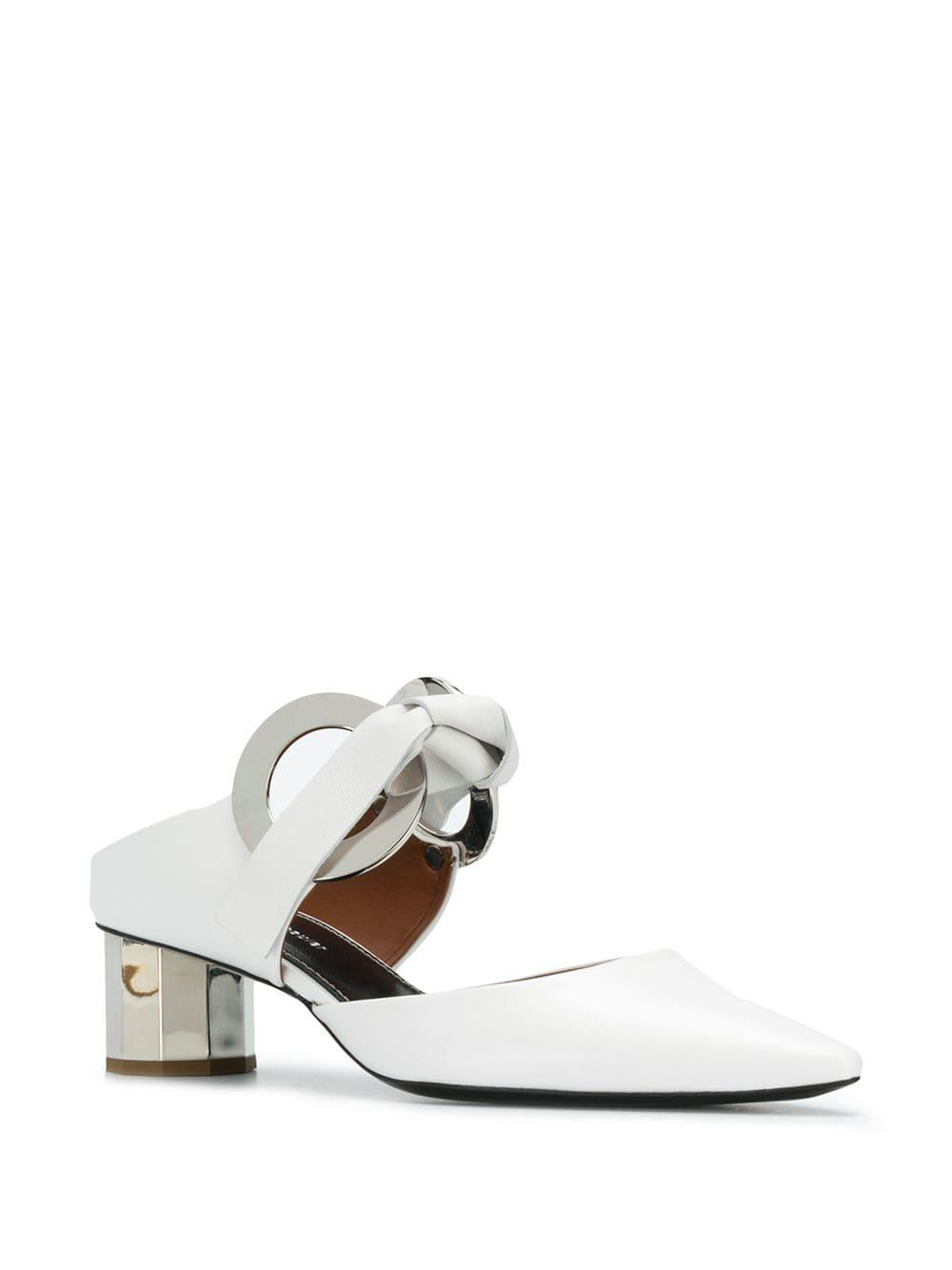 4b6abf687c9 Lyst - Proenza Schouler White Metallic Heel 40 Mules in White - Save 54%