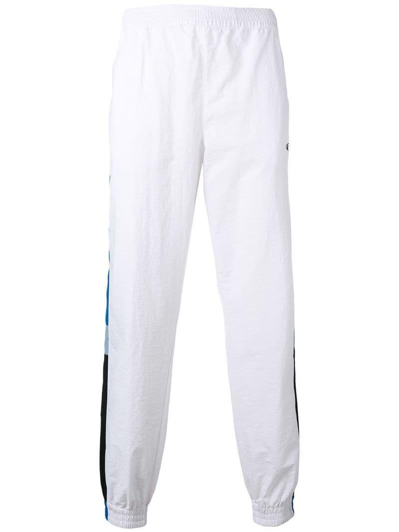 63a2ac5f58c54 Lyst - MSGM Stripe Detail Track Pants in White for Men