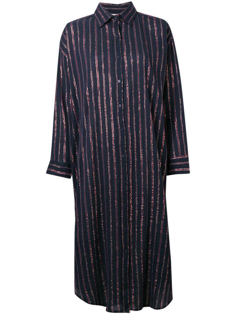 Mes Demoiselles Striped Shirt Dress in Blue - Lyst 49ec3ba46