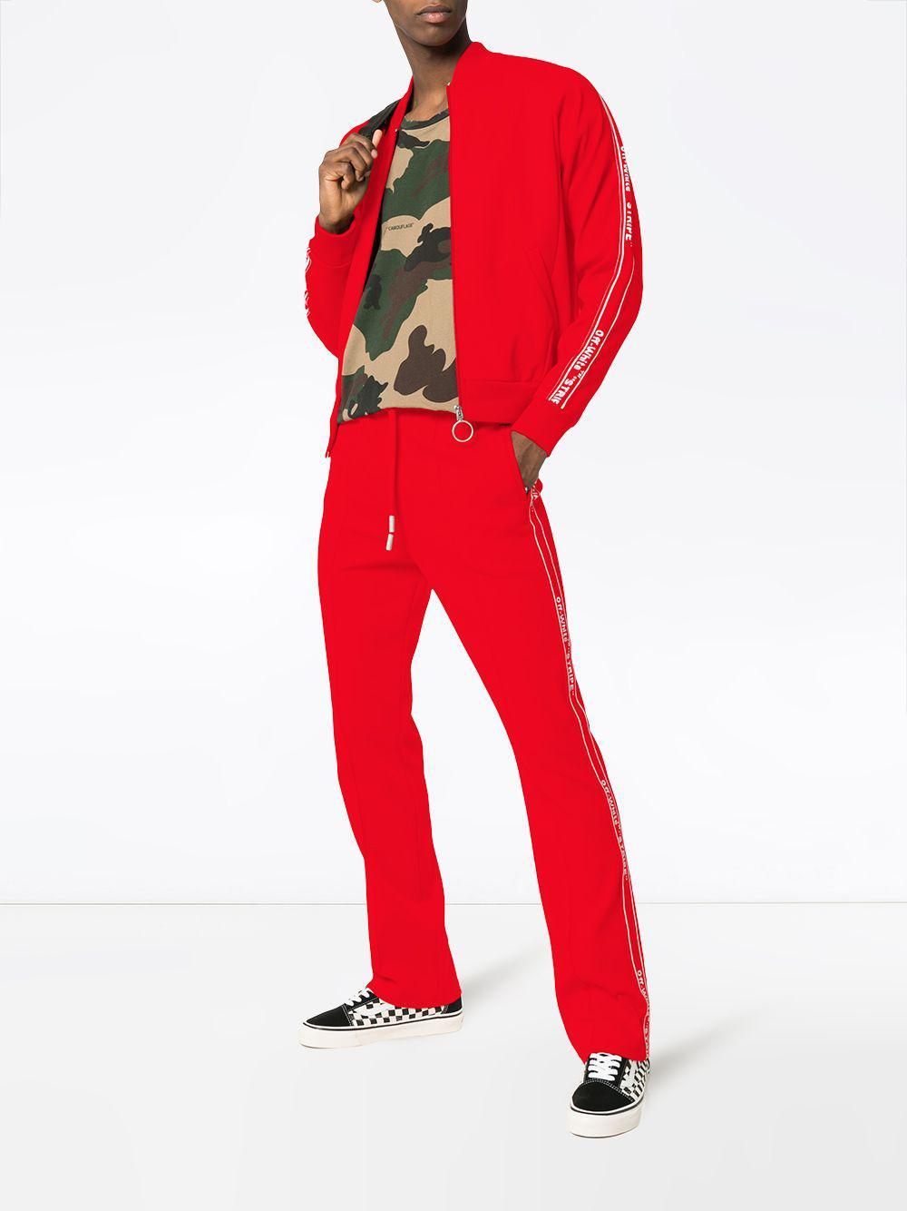 6f09da7749811 Lyst - Pantalon de jogging à logo Off-White C O Virgil Abloh pour ...