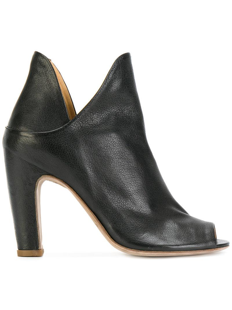 cheap sale outlet store buy cheap view Officine Creative open toe notched detail ankle boots Bjfto