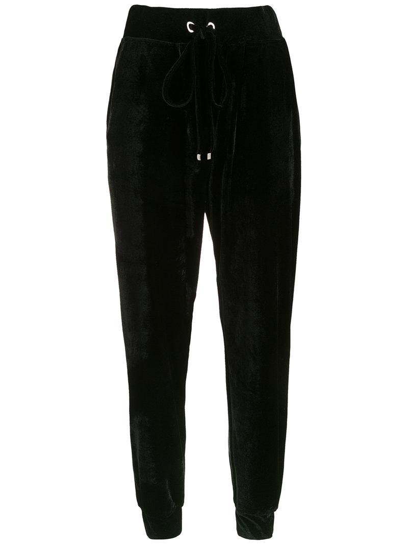 velvet pants - Black OLYMPIAH
