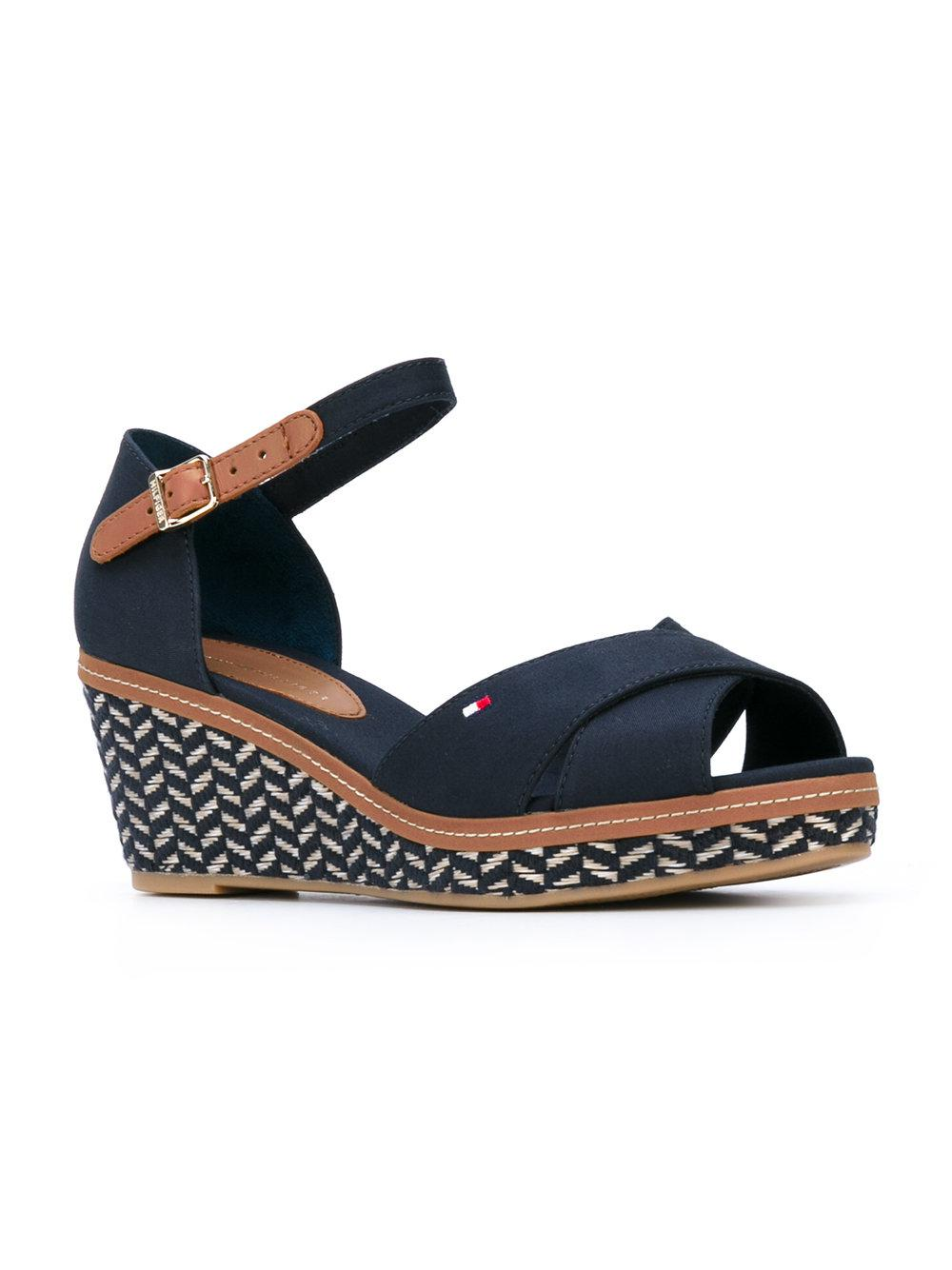 cheap sale visit new free shipping authentic Tommy Hilfiger patterned wedge sandals CTI5HAPZXJ