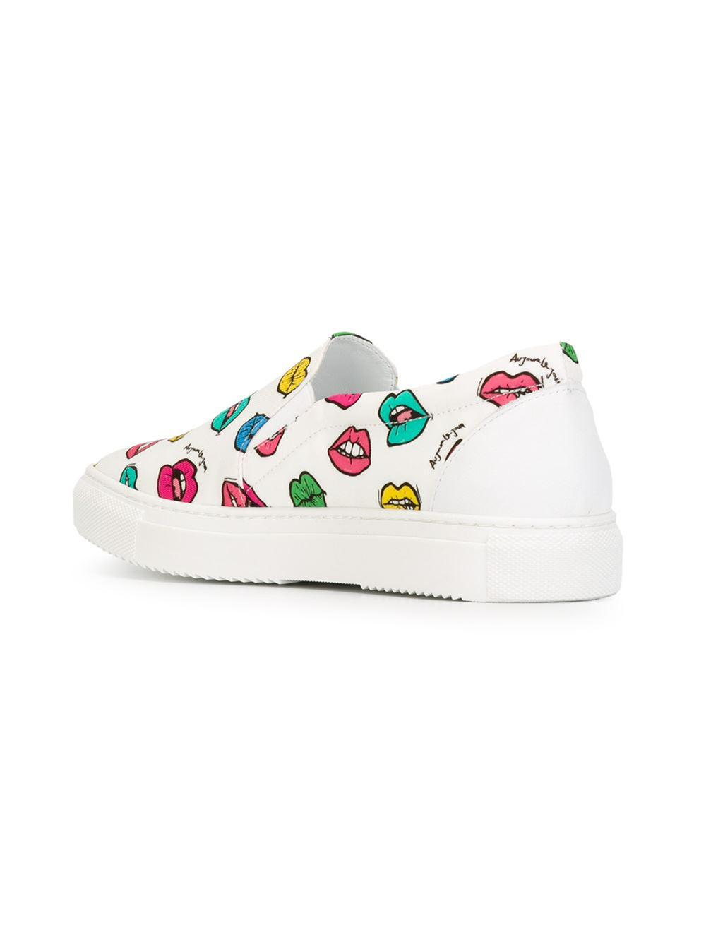 Le White Sneakers Lyst Au Print Mouth In Slip On Jour PTkOiuXwZ