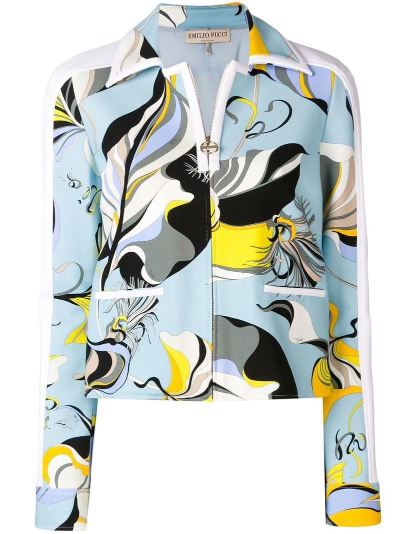 acb2f5ebee2e Lyst - Emilio Pucci Frida Print Jacket in Blue