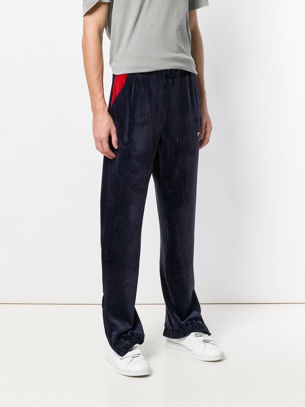 Buy Cheap Big Sale For Nice Online Dax velour track pants - Blue Fila Largest Supplier Cheap Online In China Discount Outlet Store EglClfNyM