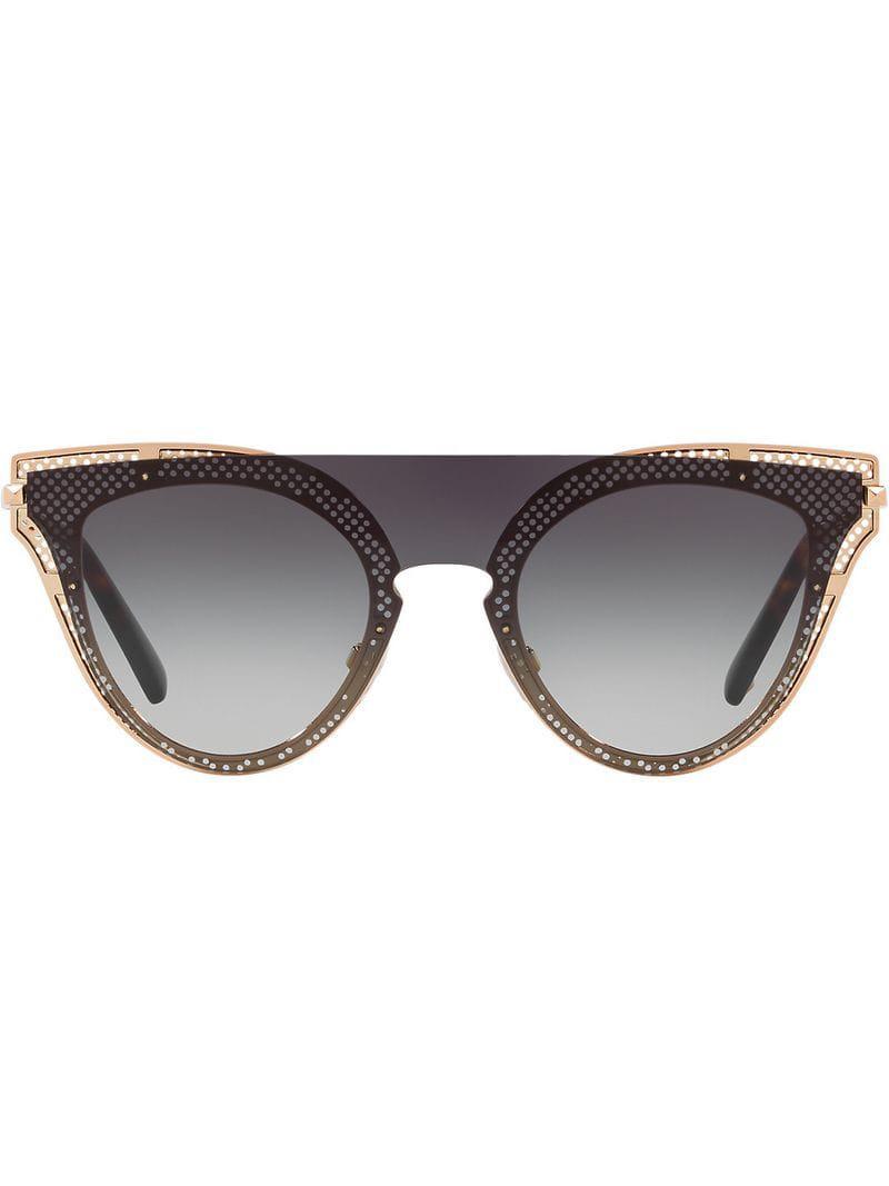 Metallic In Garavani Valentino Eyewear Sunglasses Eye Cat pA0Cq