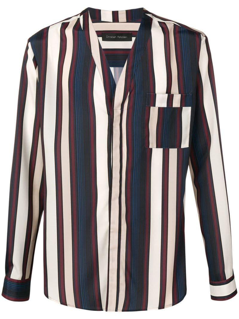 a7d822f9 Lyst - Christian Pellizzari Striped Kimono Shirt for Men