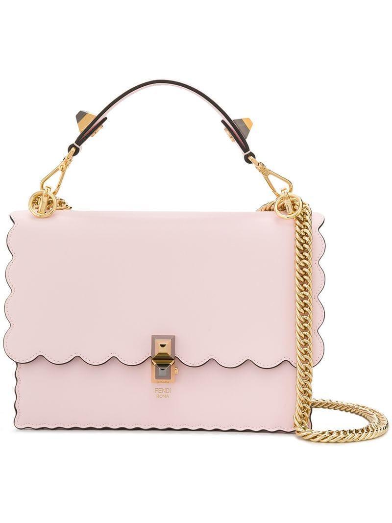 ad21e88472 Lyst - Fendi Kan I Shoulder Bag in Pink