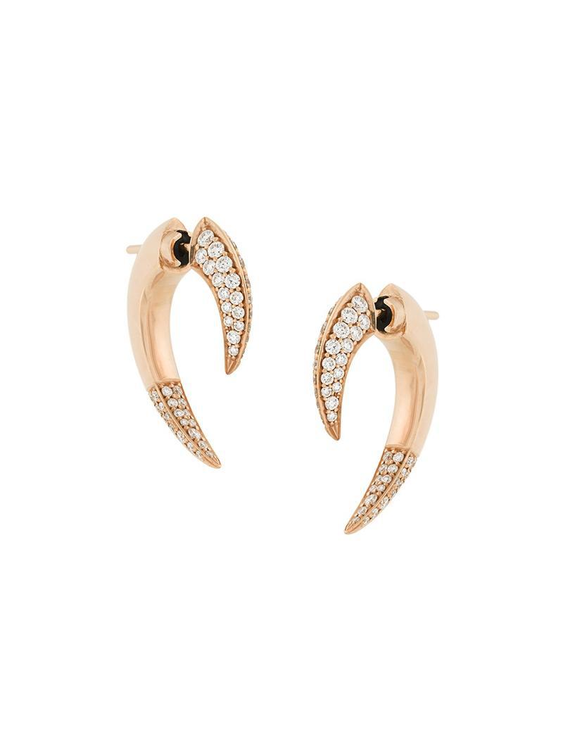 Shaun Leane small Talon diamond earrings - Metallic