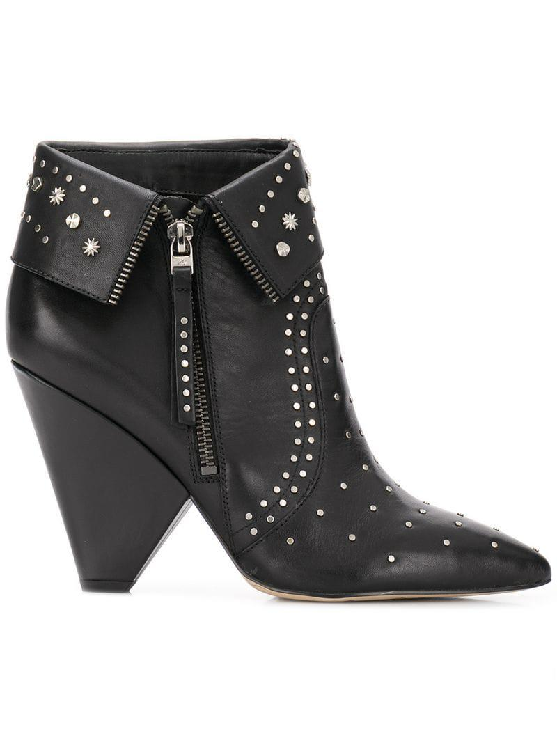 bba45e099ed Sam Edelman Pointed Toe Ankle Boots in Black - Lyst