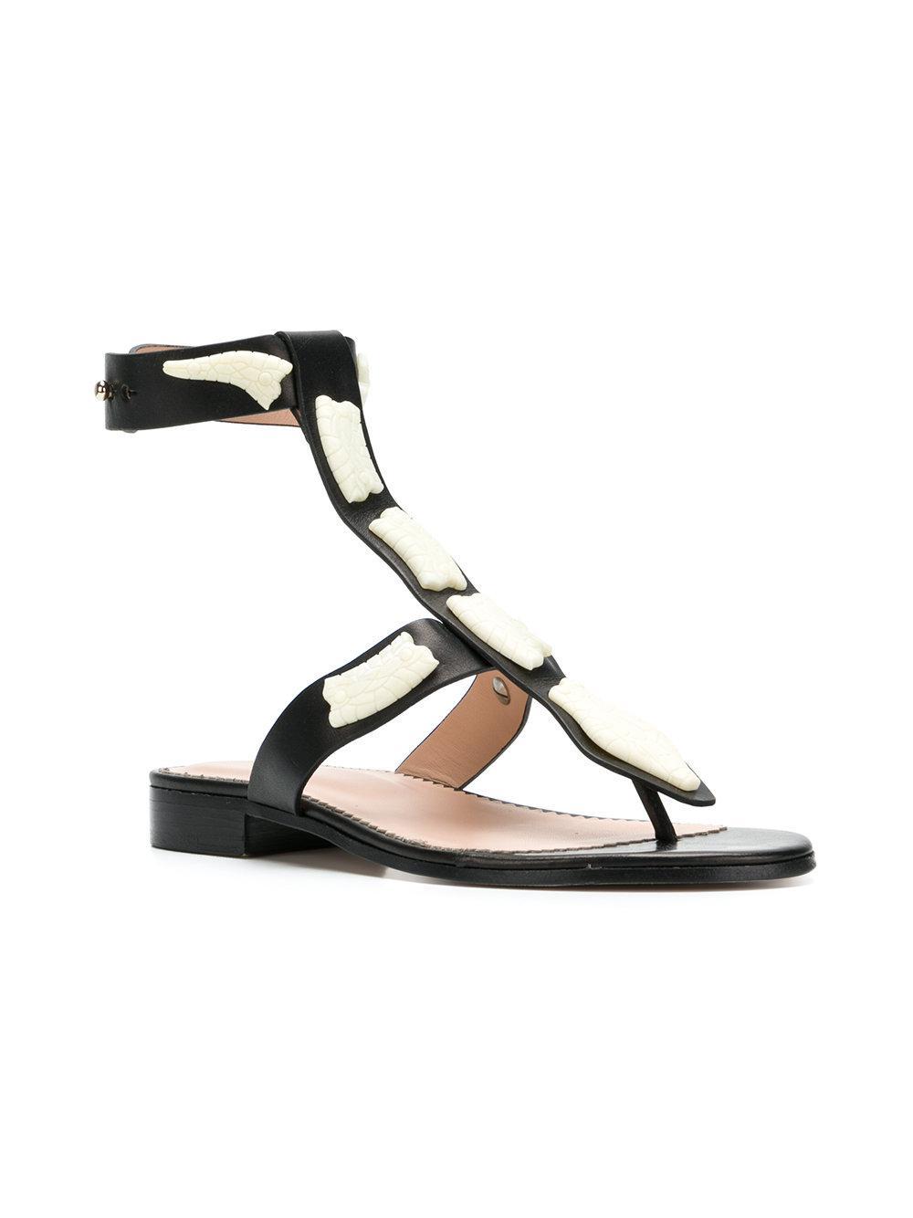 8c4a257de Lyst - RED Valentino Sin Flat Sandals in Black