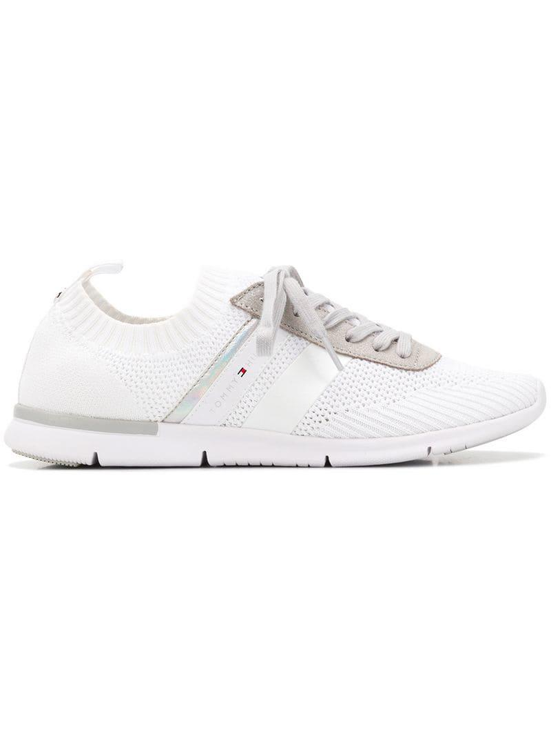 b35a3fa761235d Tommy Hilfiger Lace-up Sneakers in White - Lyst