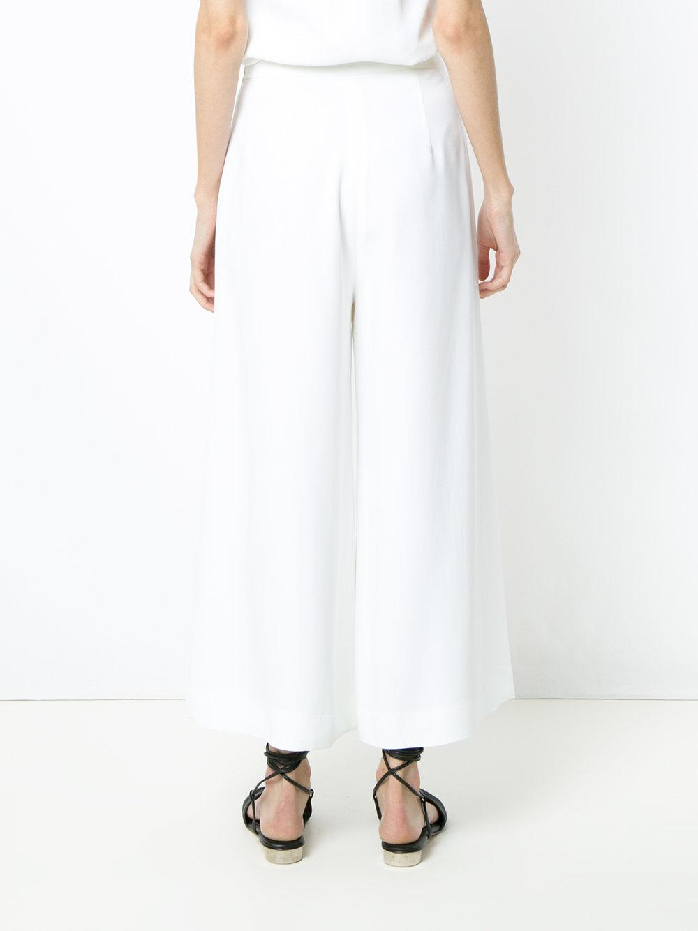 wide leg cropped trousers - White Andrea Marques I3SA0sf