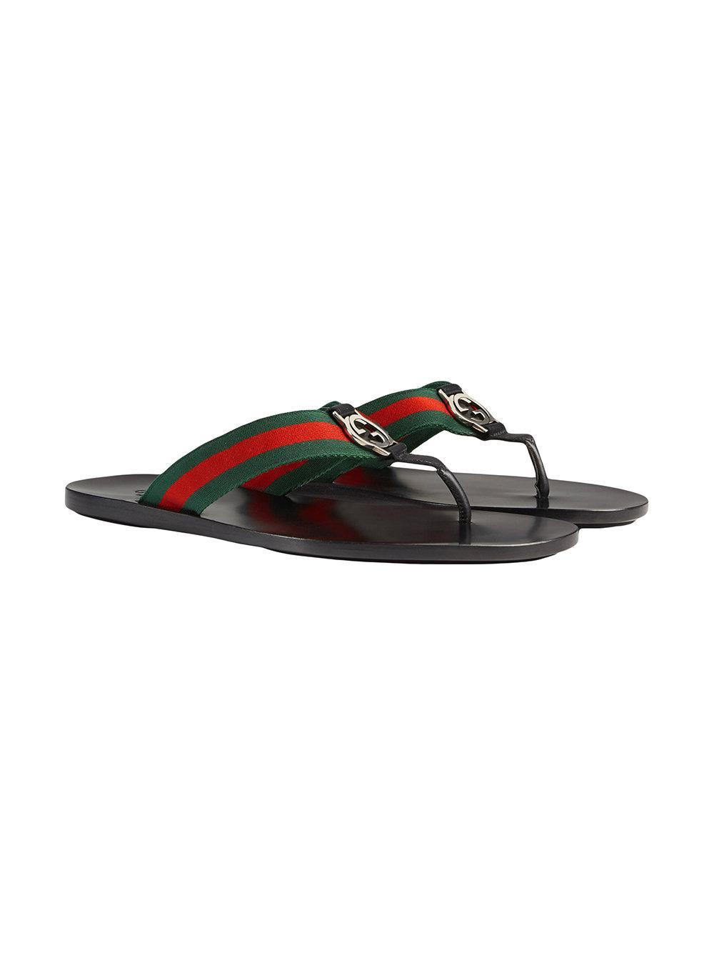309373a3eb15f Lyst - Gucci Web Strap Thong Sandal in Black for Men - Save  1.4084507042253591%