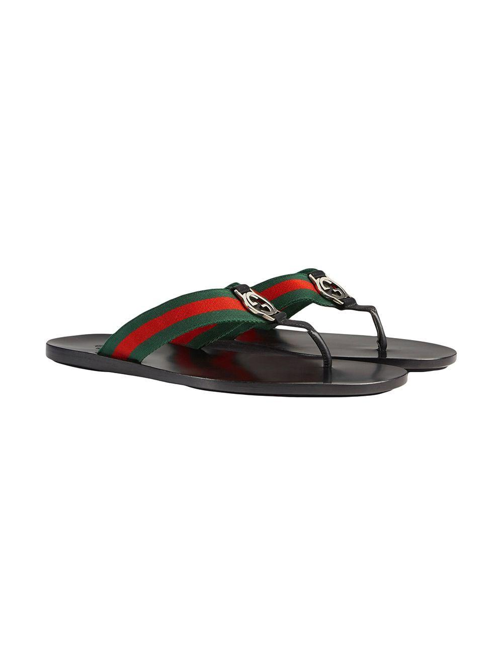 1187605446b Gucci Web Strap Thong Sandal in Black for Men - Save 14% - Lyst