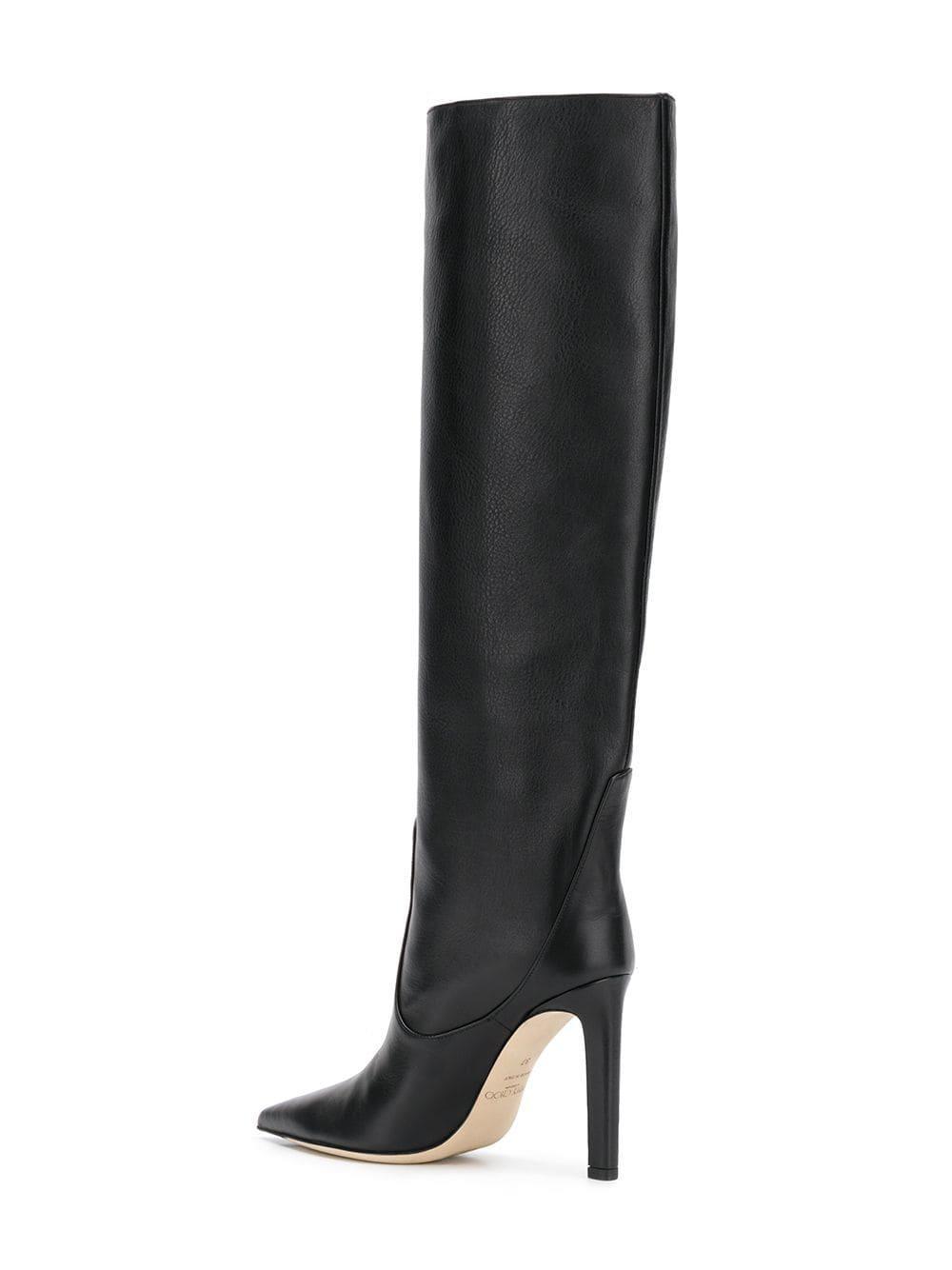 11b17bfee94 Jimmy Choo - Black Mavis 100 Boots - Lyst. View fullscreen