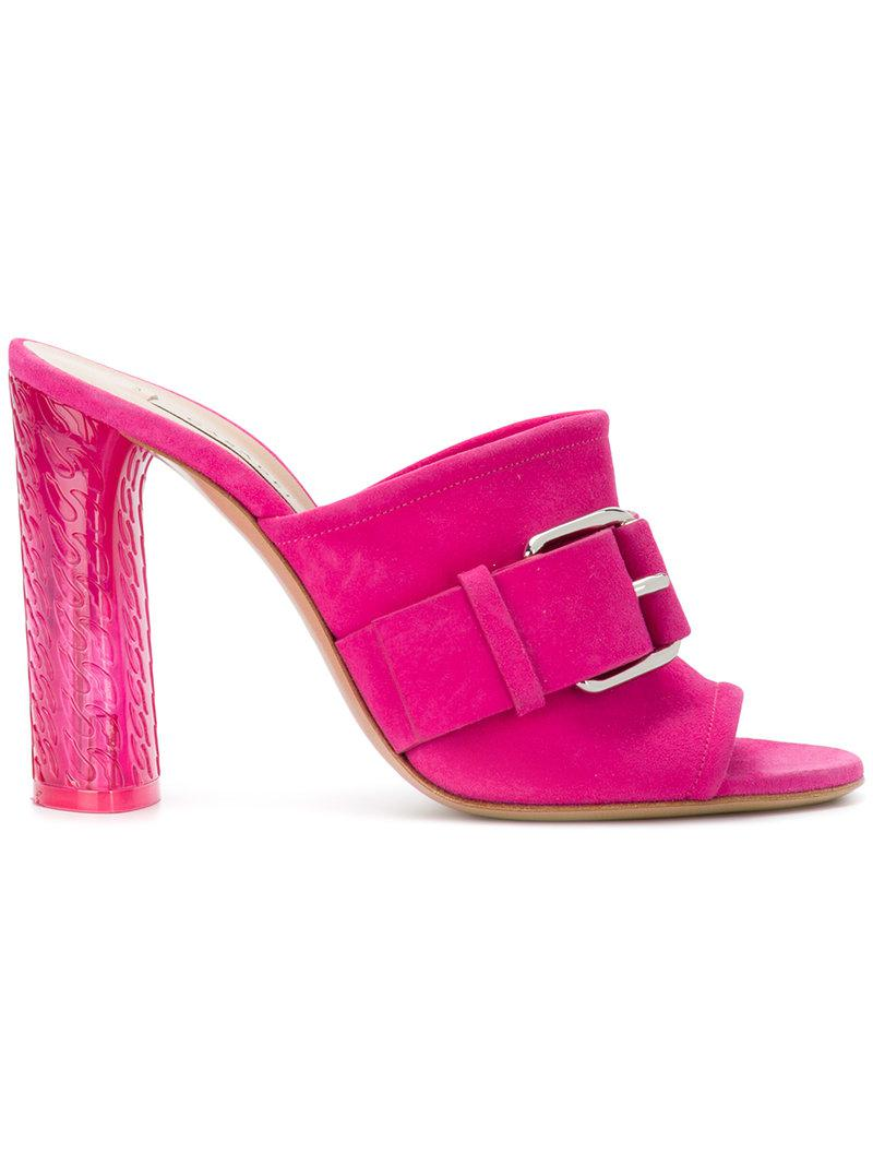 buckle detail mules - Pink & Purple Casadei