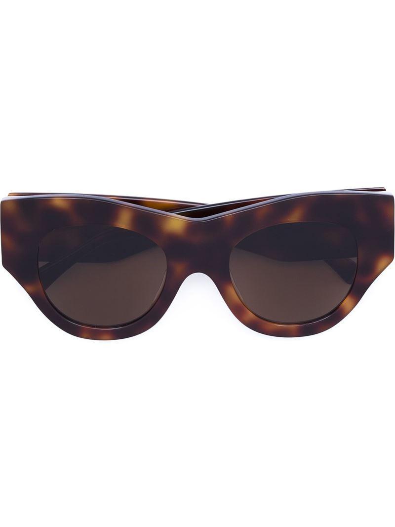 65c3ec1292361 Vera Wang Thick Cat Eye Sunglasses in Brown - Lyst