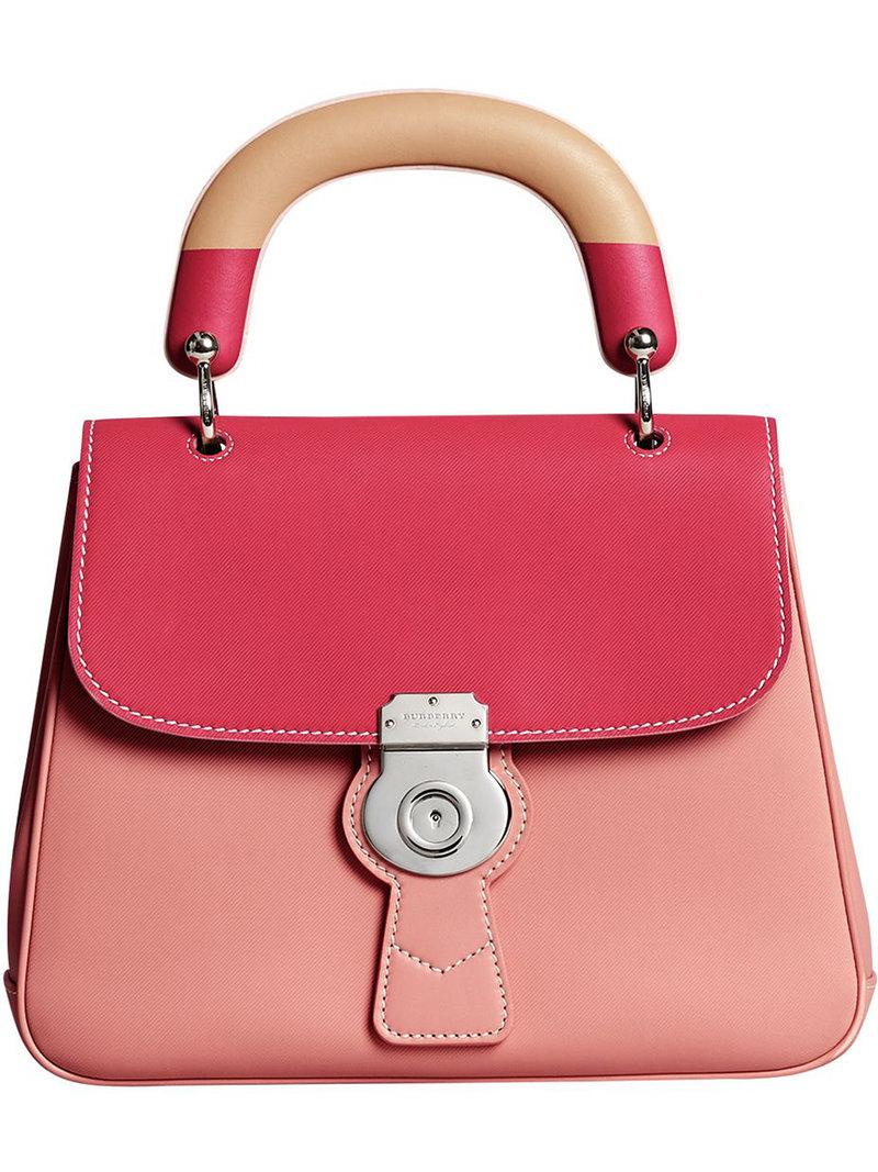 DK88 top handle bag - Pink & Purple Burberry 4gjkUkFw
