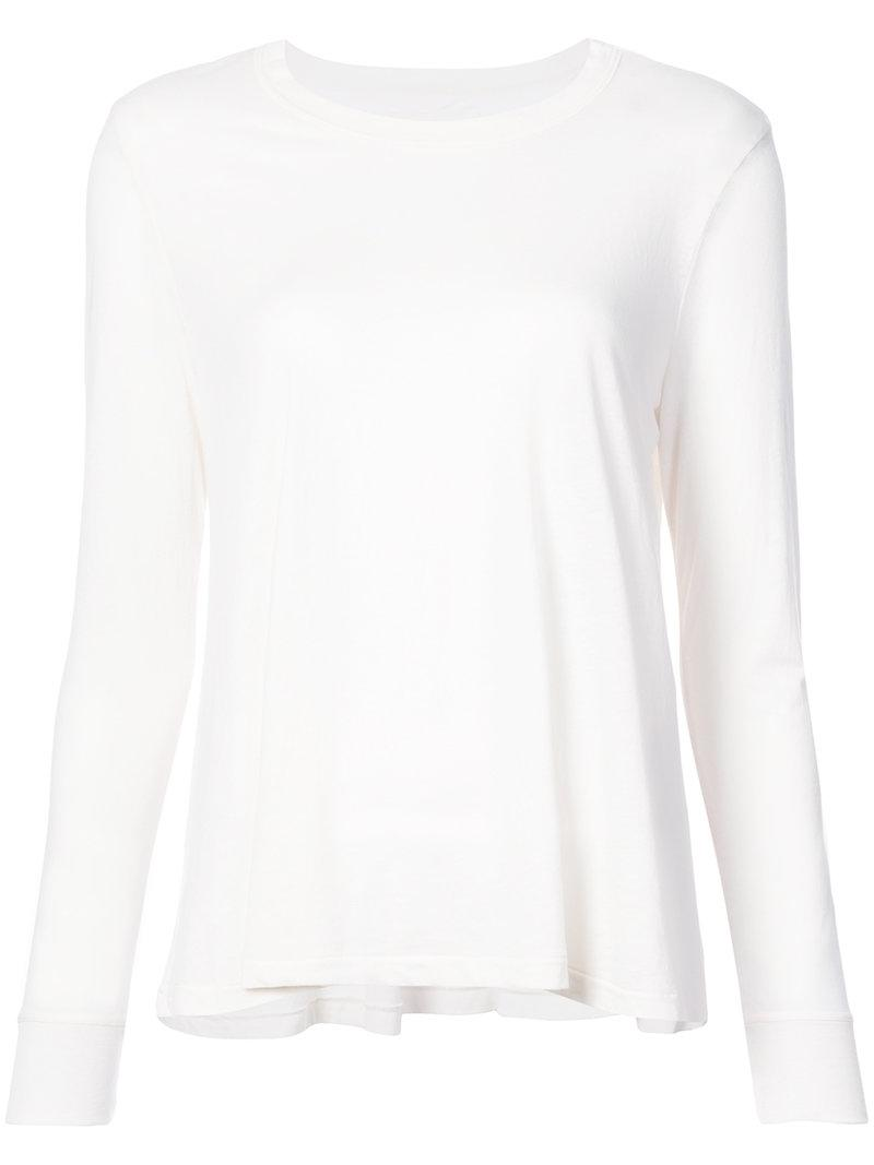 Lyst The Great Longsleeved T Shirt In White