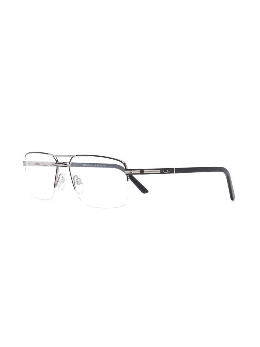 1ea0477a2849 Lyst - Cazal Rectangular Half Frame Glasses in Metallic for Men