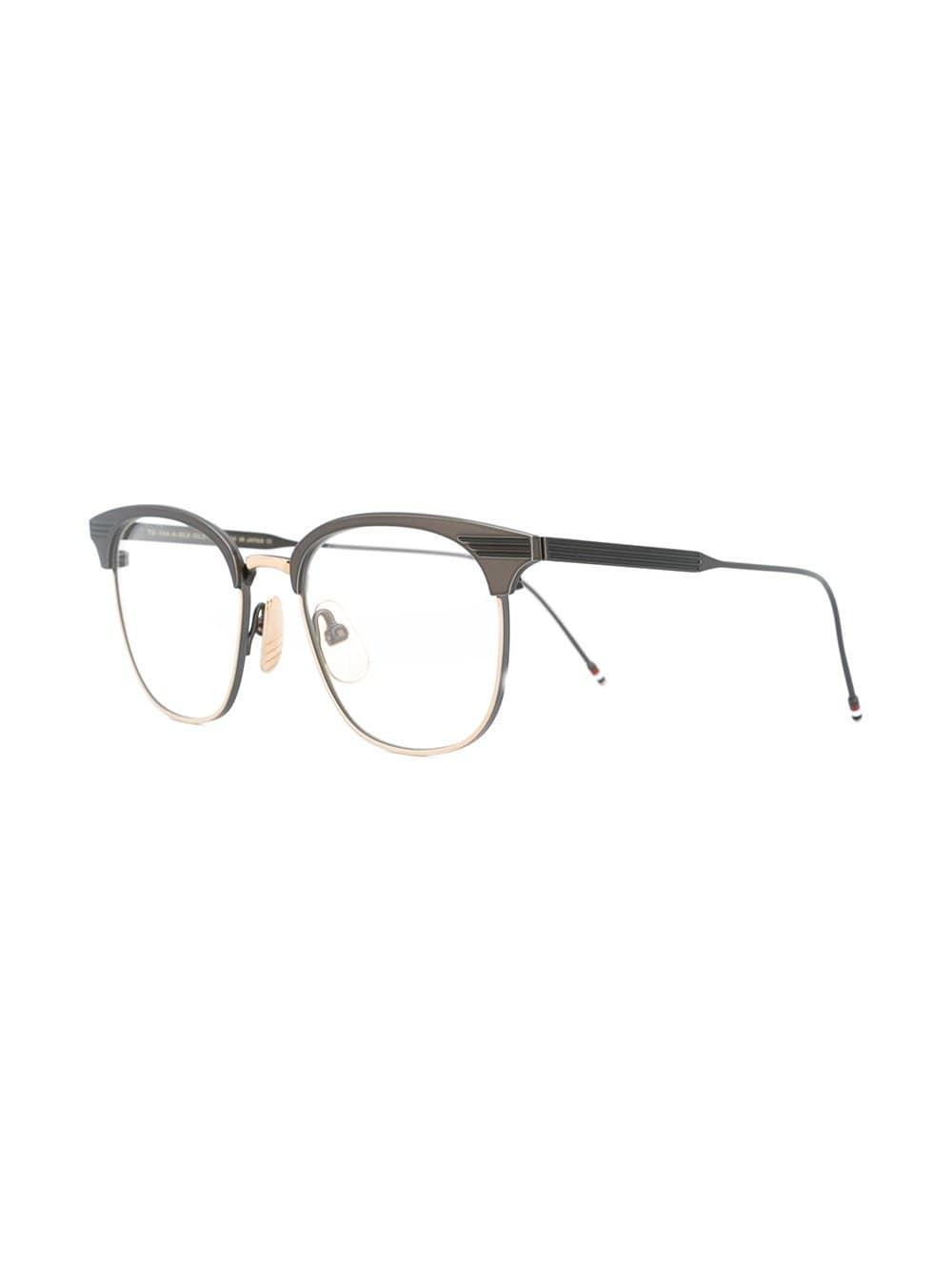ada21daf5070 Lyst - Thom Browne Black Iron   Gold Optical Glasses in Black