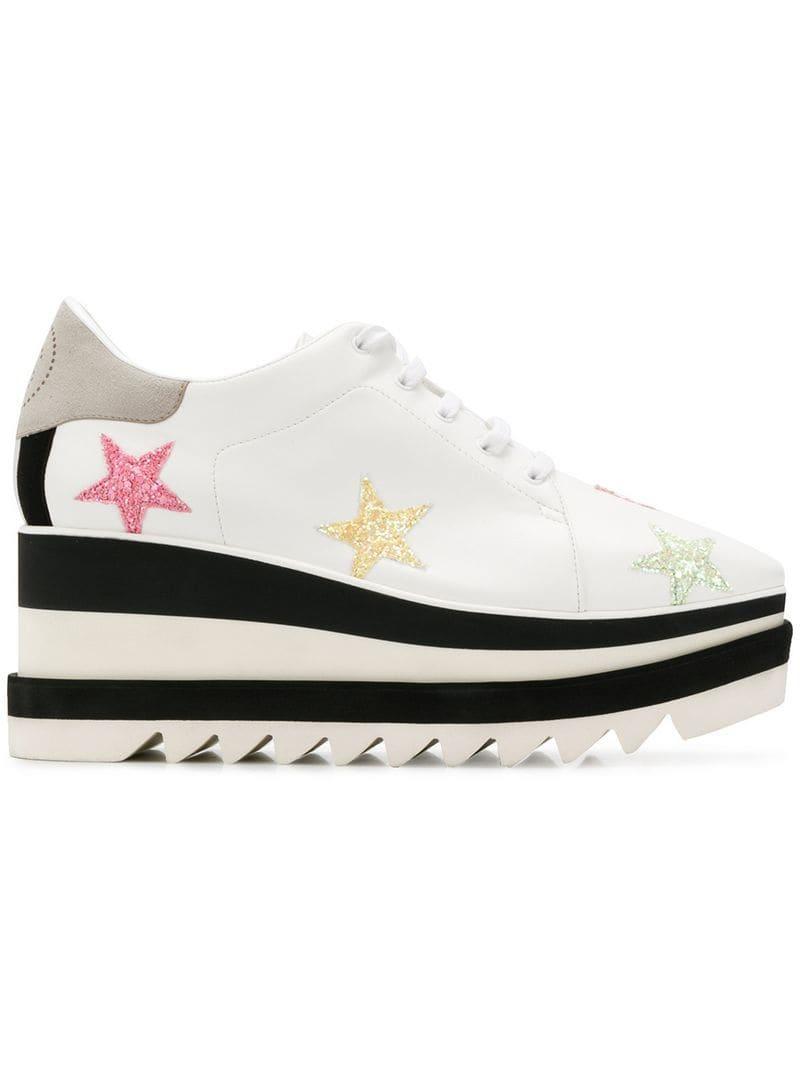 0a0b3da8131e Lyst - Stella McCartney Sneak-elyse Pastel Star Sneakers in White