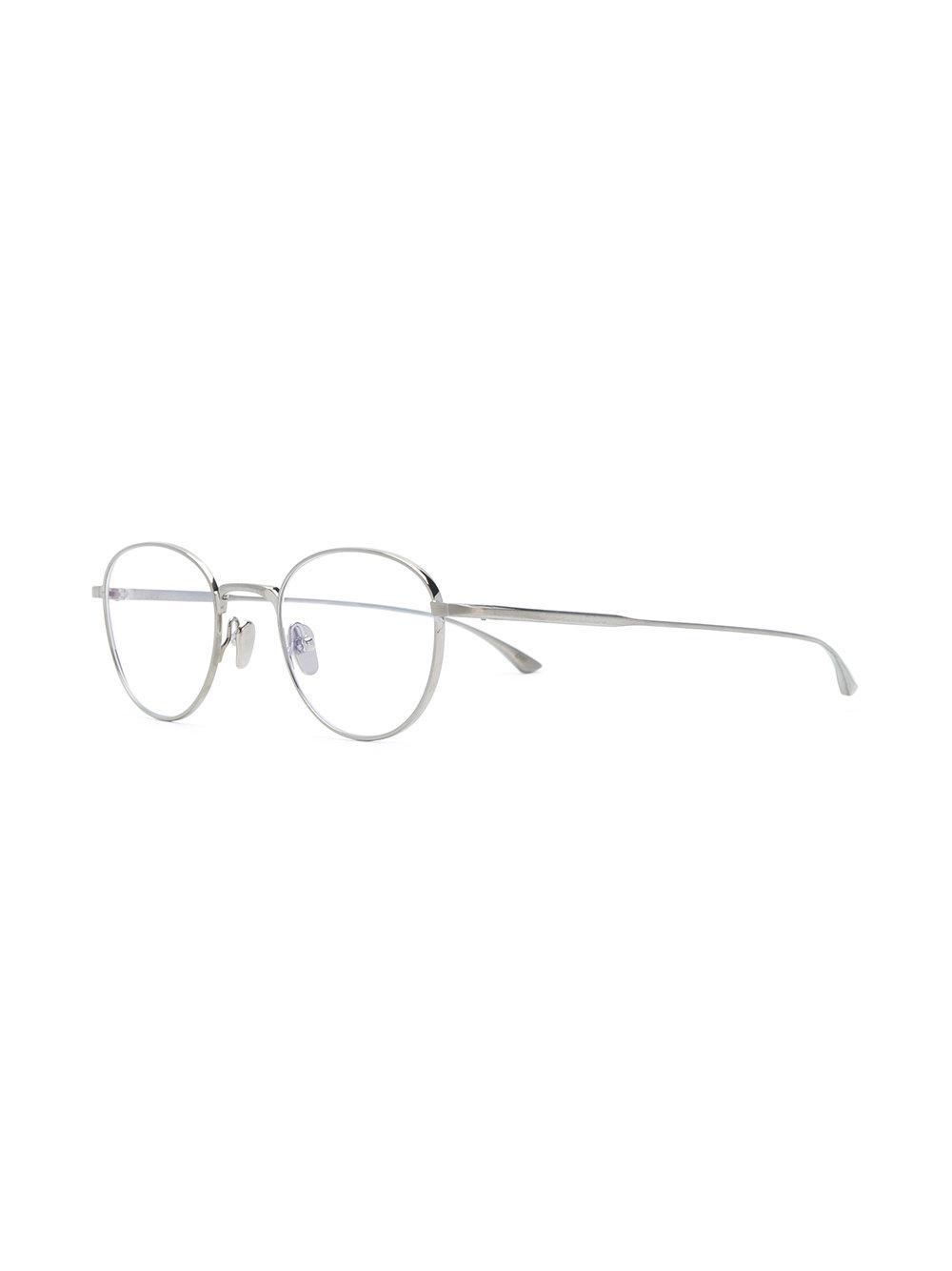 cceec96d7a3 Masunaga Round Frame Glasses in Metallic for Men - Lyst