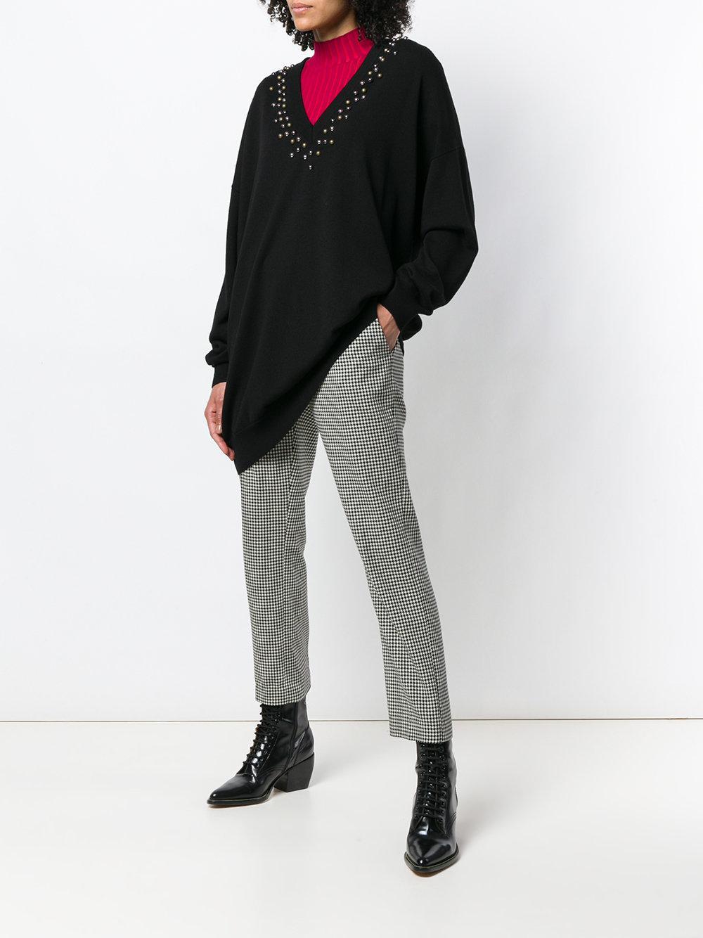 3ecc37fa778 Givenchy Noir Cloutée En Encolure Oversize Pull Coloris À Lyst OHqgw