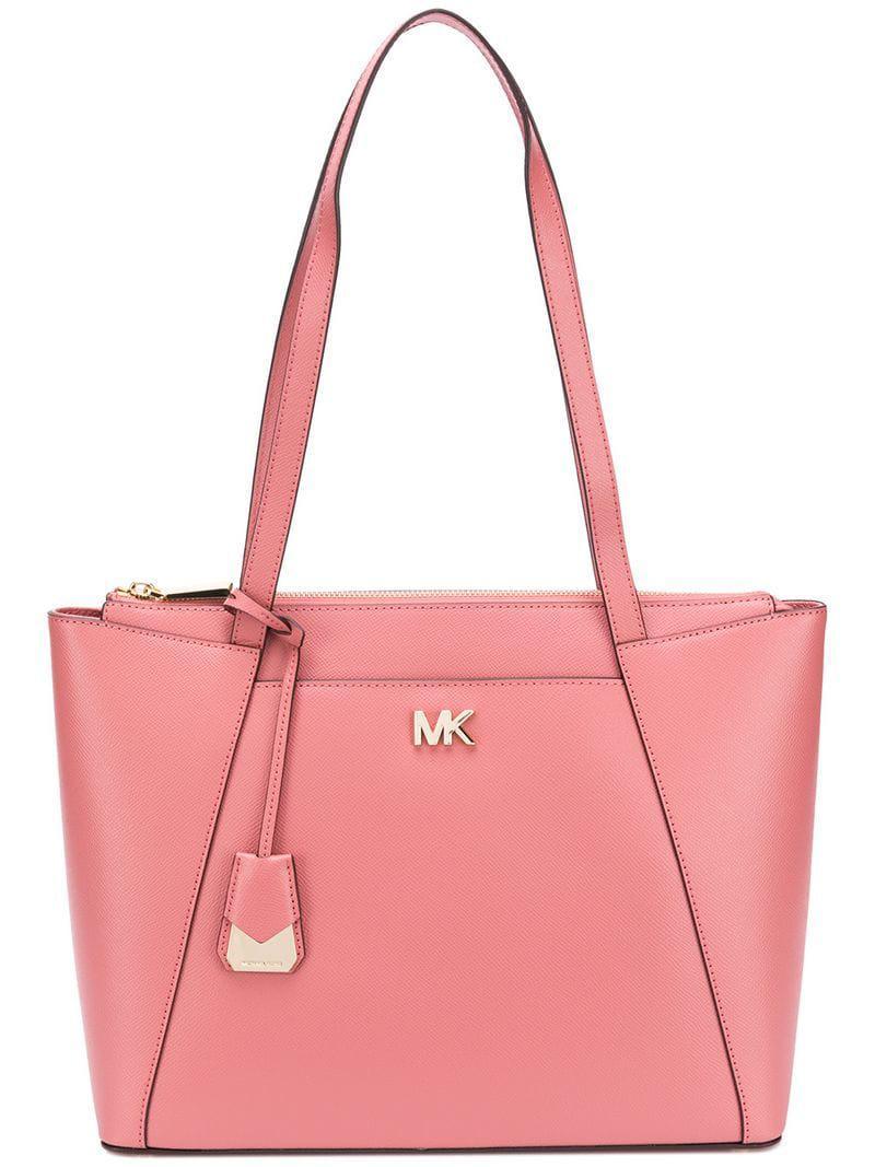 8b06be518cf9 Michael Michael Kors Maddie Shoulder Bag in Pink - Lyst