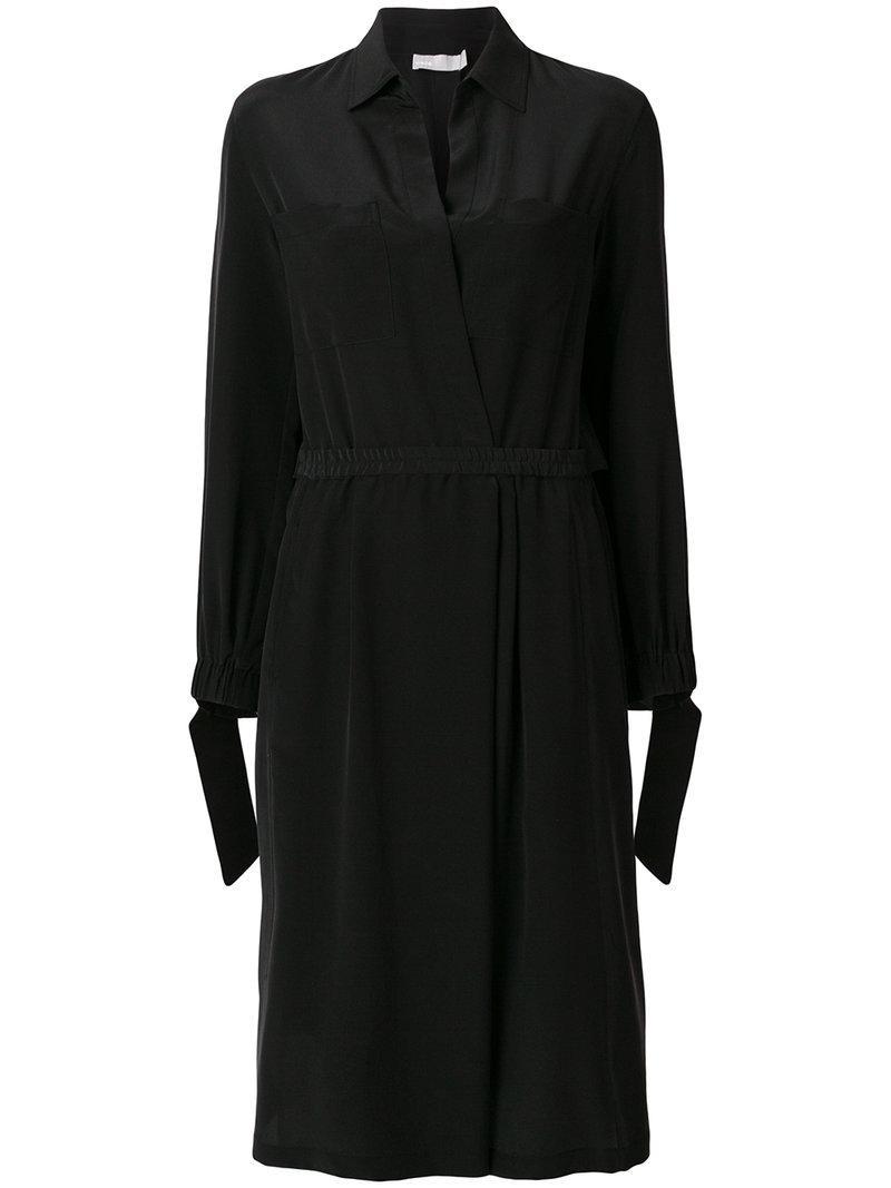 slit back shirt dress - Black Vince Zly6yF8