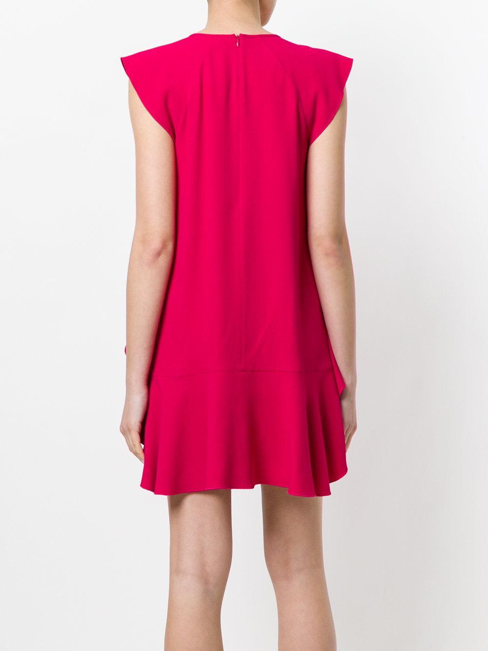 ruffled shift dress - Pink & Purple Red Valentino GCkSU3v