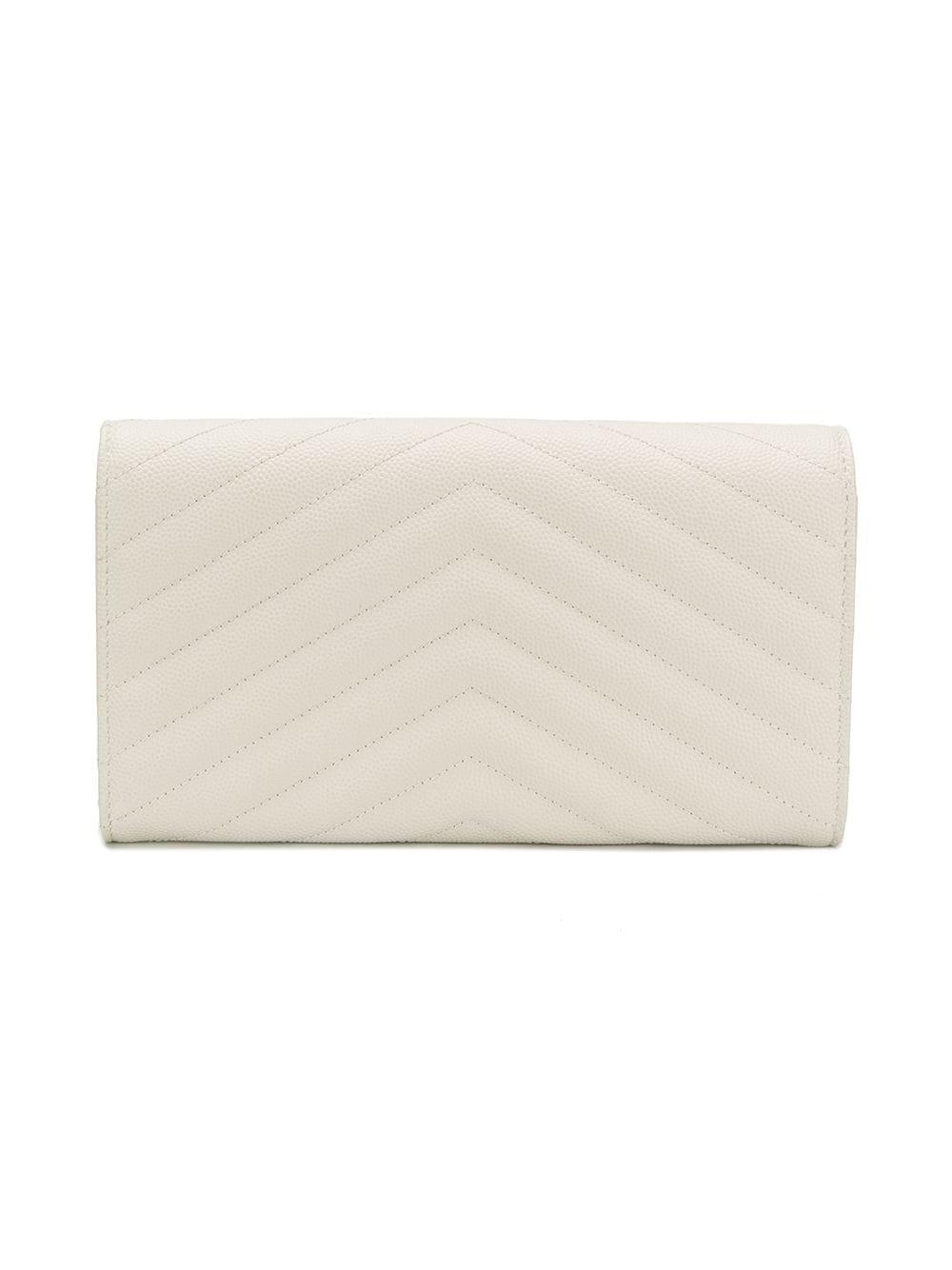 29a0be069f61 Lyst - Saint Laurent Quilted Wallet