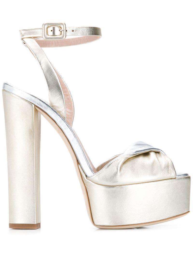 1b6066b4c0fb Lyst - Giuseppe Zanotti Lavinia 100 Sandals in Metallic
