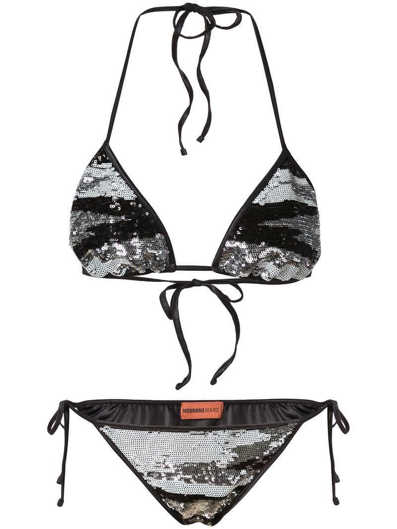 922063772adaf Lyst - Missoni Sequin Embellished Bikini in Black