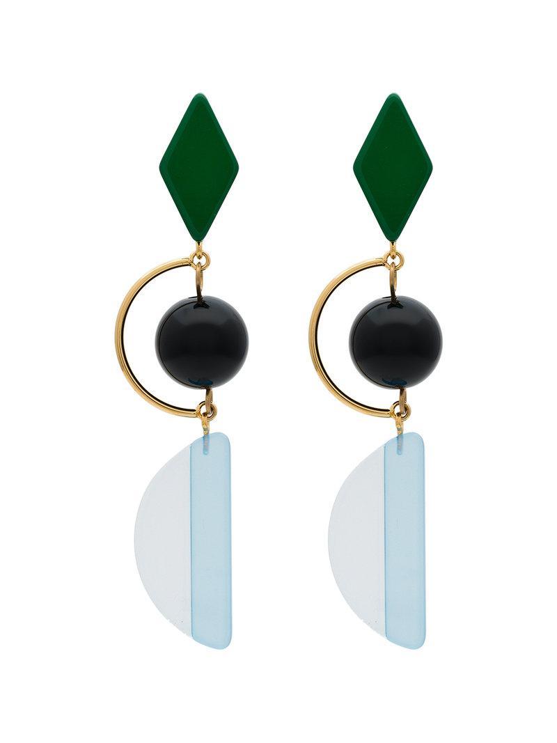 Marni Long resin and metal hook earrings 1aiEt