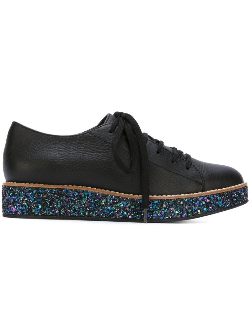 Superette « Boulevard » Chaussures À Lacets - Noir h42D8
