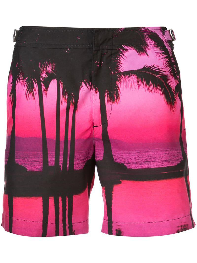 be9e28d8bc Orlebar Brown Beach Print Swim Shorts in Pink for Men - Save 20% - Lyst