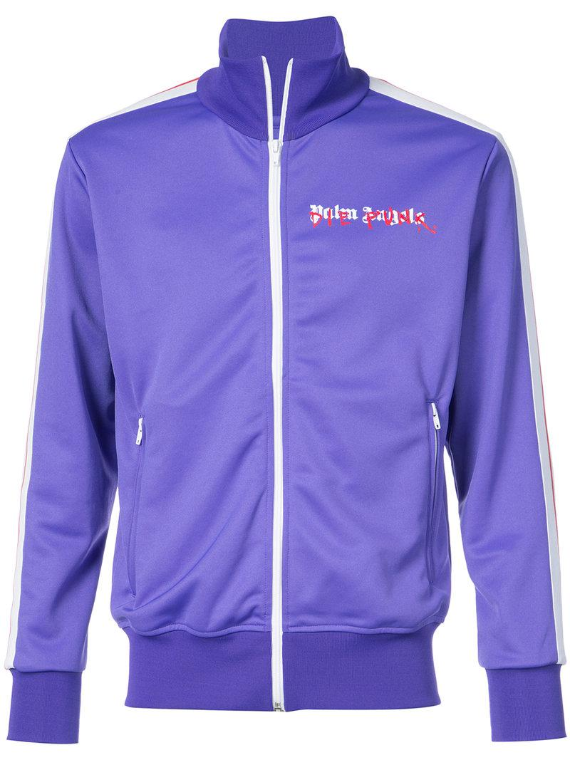 4d4f95c6536 Lyst - Palm Angels Logo Track Jacket in Purple for Men