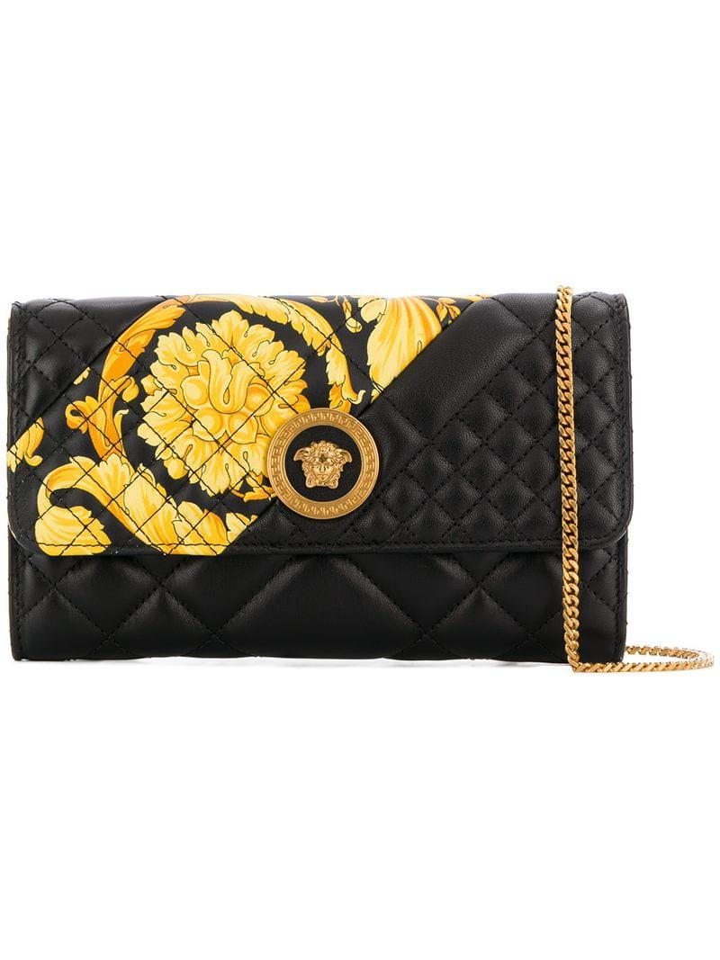 46a39faa69 Lyst - Versace Quilted Print Clutch Bag in Black - Save 12%