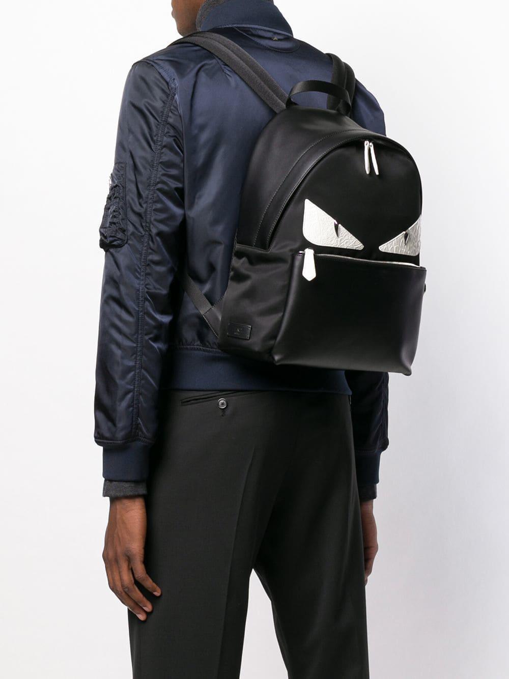 Fendi - Black Sac à dos à empiècements Bug Bags for Men - Lyst. Afficher en  plein écran 7a3cccf4e78