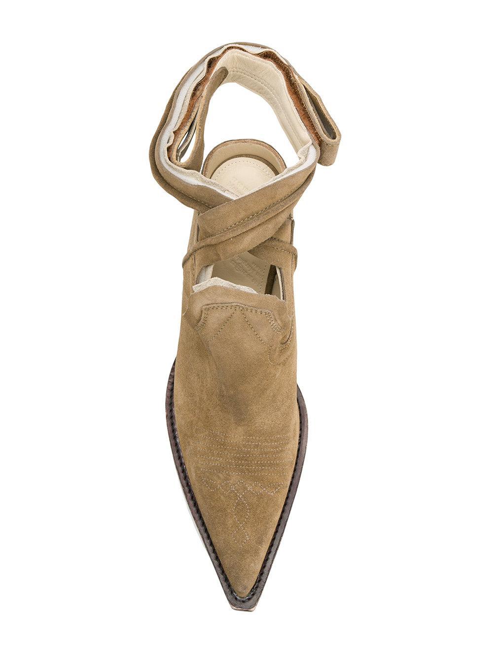 7c9b1364a07 Maison Margiela Natural Cut-out Cowboy Boots