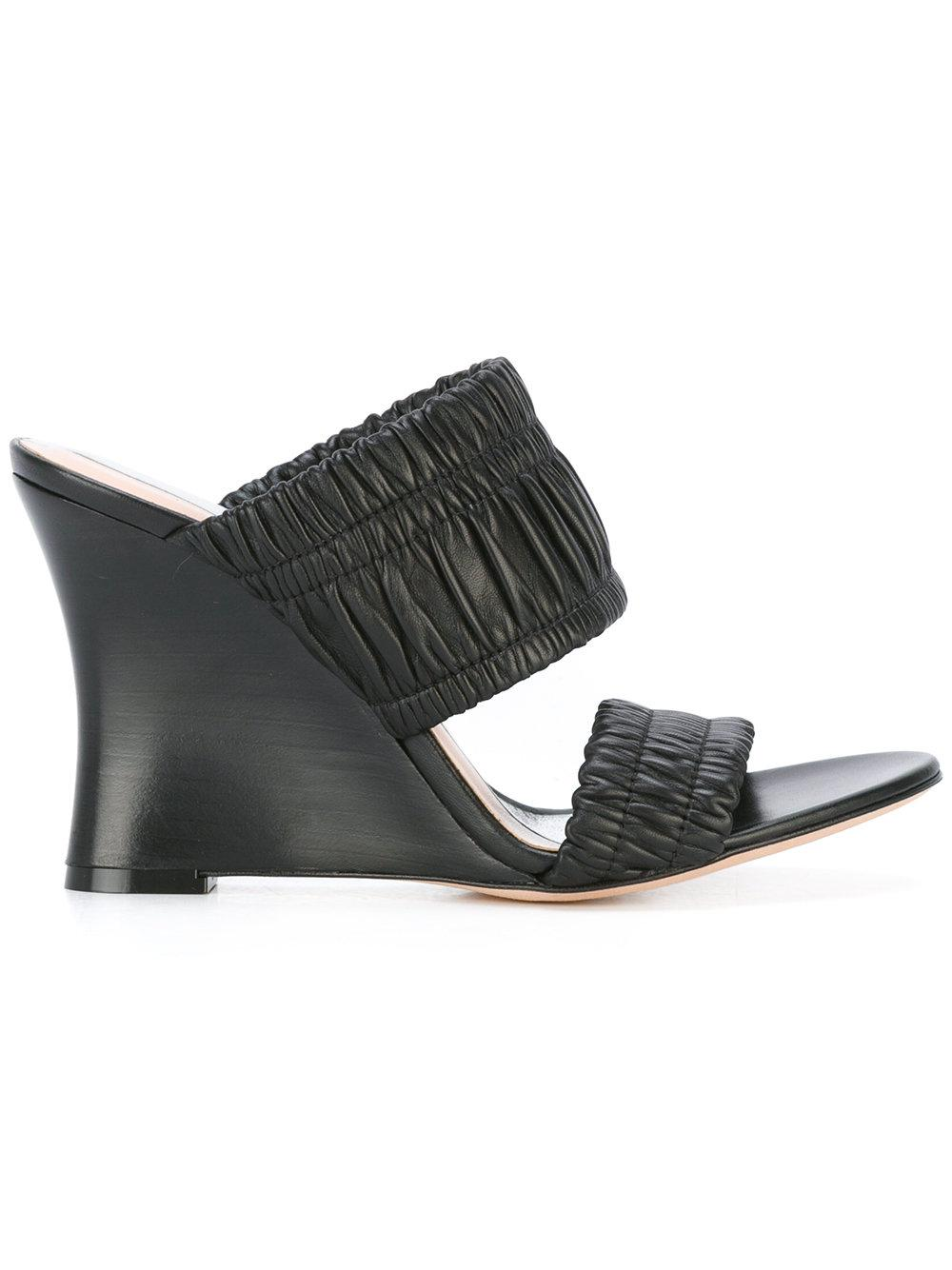 d65808f5639 Lyst - Alchimia Di Ballin Ribbed Straps Sandals in Black