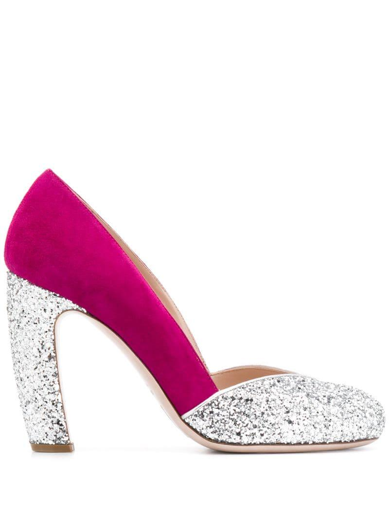 10a176bf02 Miu Miu. Women's Metallic Glitter Court Shoes