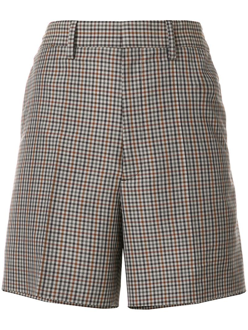 high-waisted plaid shorts - Multicolour Maison Martin Margiela Discounts RnP2gTNw