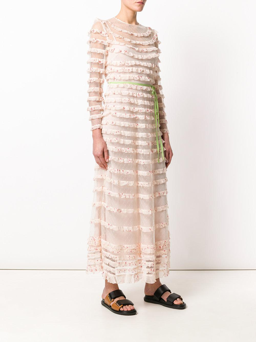 tiered maxi dress - Nude & Neutrals Red Valentino HayKZJP3V