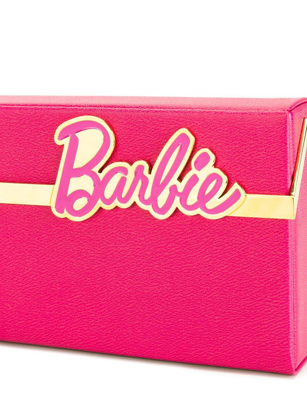 Get New Cheap Sale Authentic Charlotte Olympia Woman + Barbie Vanina Textured-leather Box Clutch Pink Size Charlotte Olympia EC7yiu3C