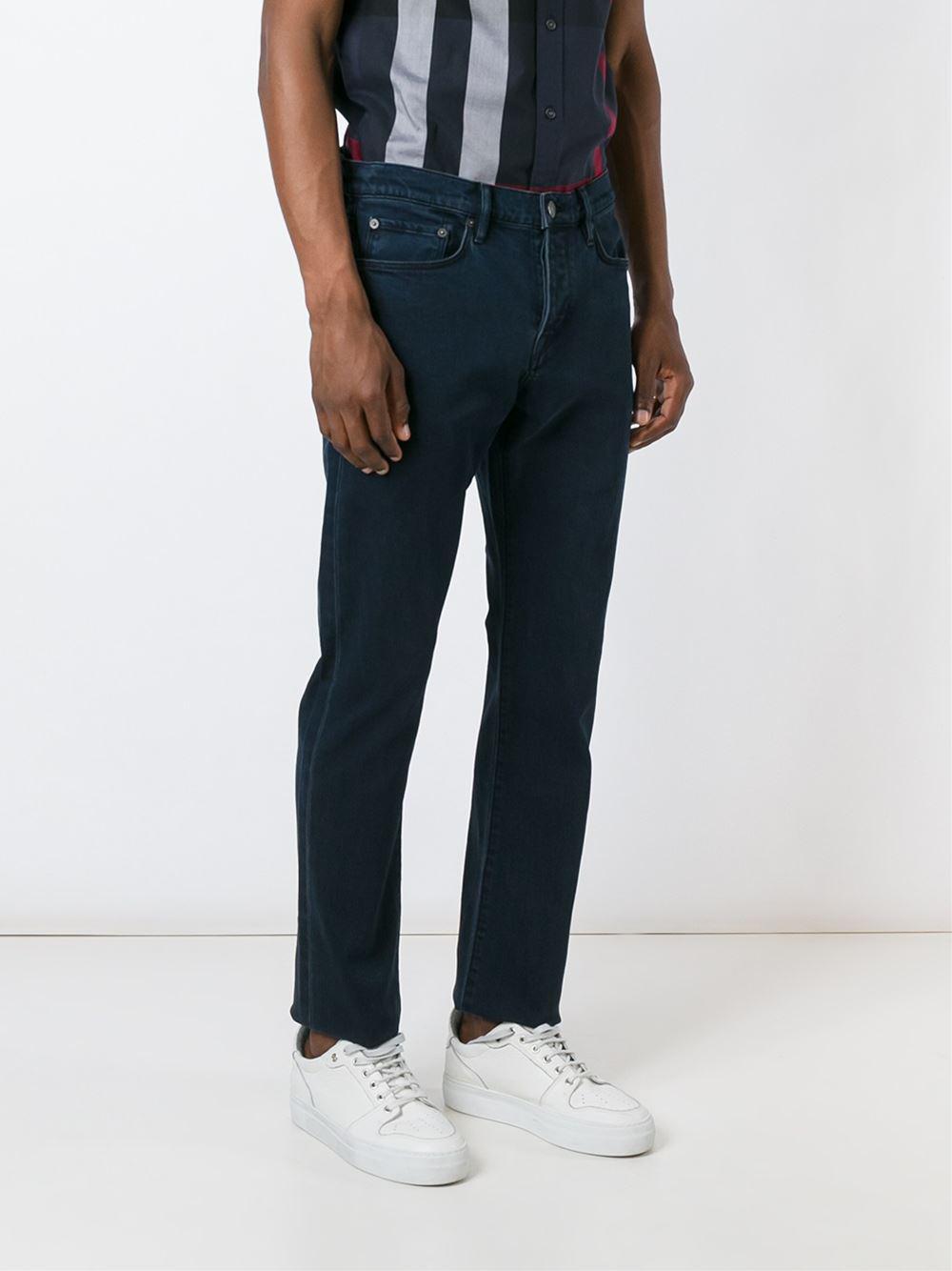 straight leg trousers - Blue Burberry 0lW1zD