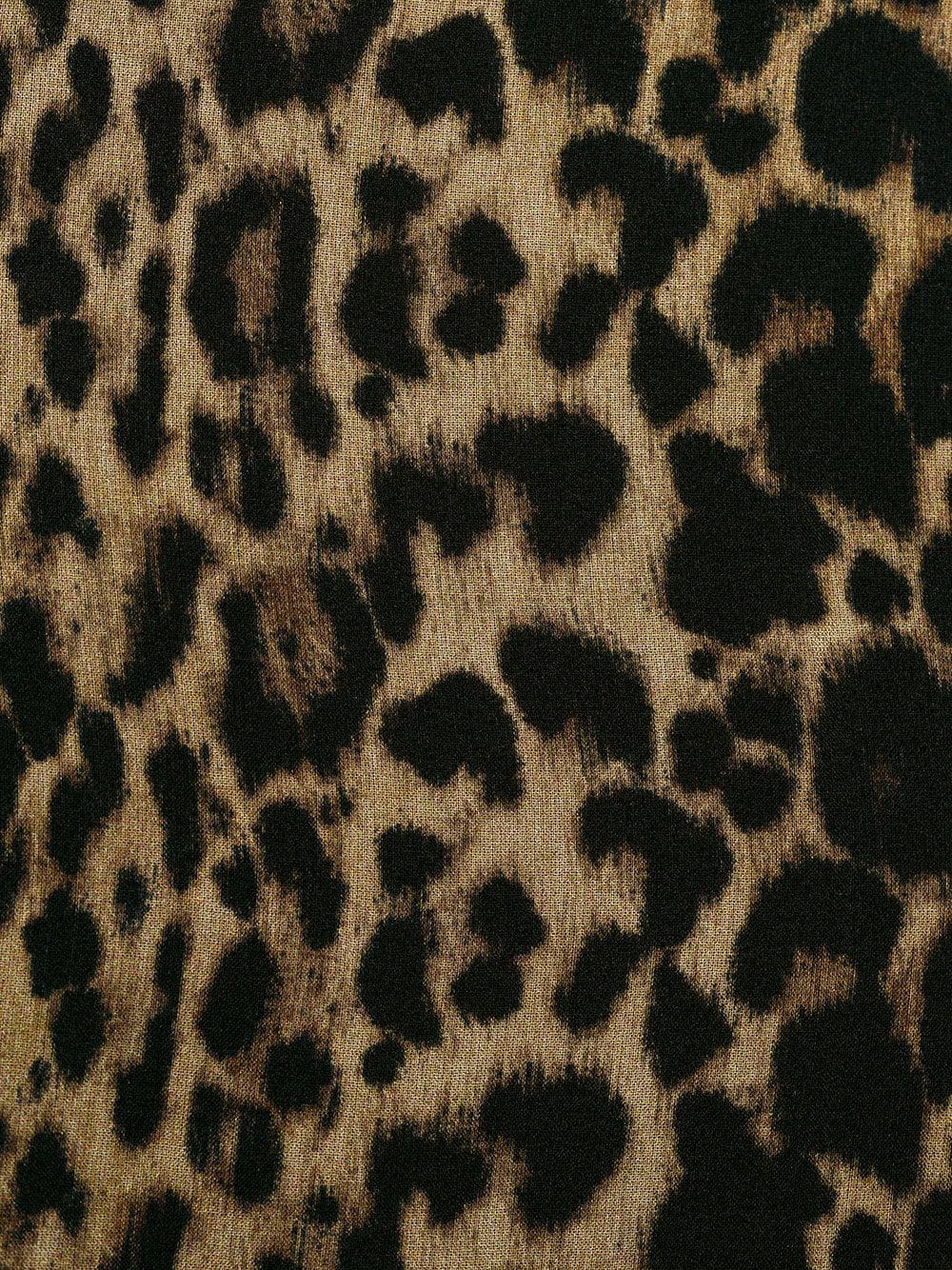 Lyst - Vestido suelto con estampado de leopardo Saint Laurent de ... 9498bcba708